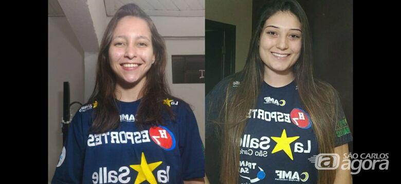 Dani e Fernanda: são-carlenses podem integrar a seleção feminina júnior de handebol no Mundial da Romênia - Crédito: Marcos Escrivani