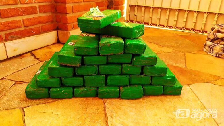 Patrulha Rural apreende 27 tijolos de maconha em condomínio de chácaras - Crédito: Maycon Maximino
