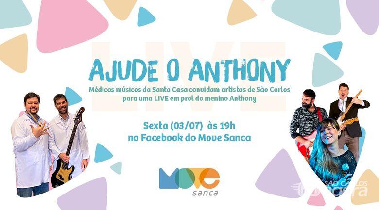 Médicos músicos da Santa Casa convidam artistas de São Carlos para live em prol do garoto Anthony - Crédito: Divulgação