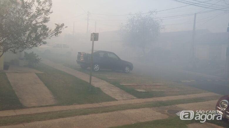 Fumaça de queimada invade condomínios na região do Jardim Ipanema - Crédito: Colaborador/SCA