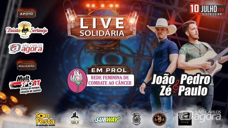 Live solidária busca auxiliar vítimas de câncer - Crédito: Divulgação