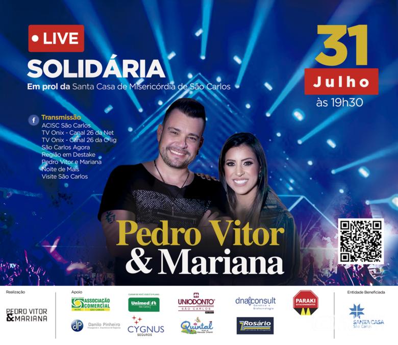 Nesta sexta tem Live Solidária em prol da Santa Casa de São Carlos -