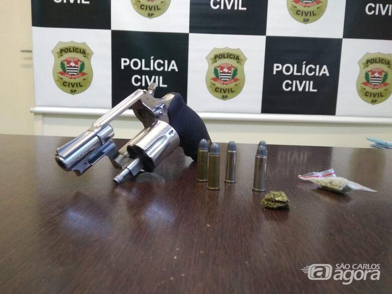 Polícia Civil prende homem por porte ilegal de arma de fogo no Broa - Crédito: Divulgação