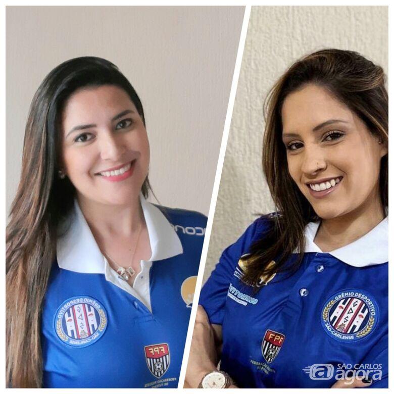 Ana Carolina e Rafaela, através de contatos virtuais, trabalham os atletas do Grêmio durante a pandemia - Crédito: Marcos Escrivani