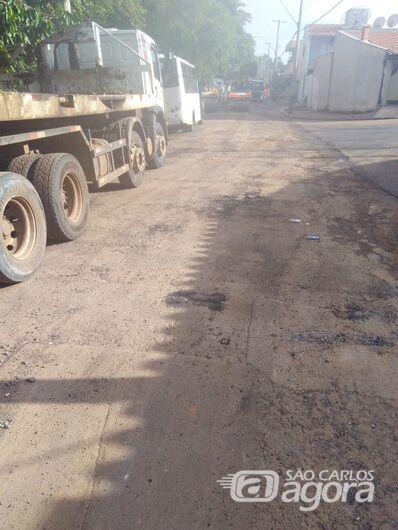 Rua Odete dos Santos, no Tortorelli, fica sem recape - Crédito: Divulgação