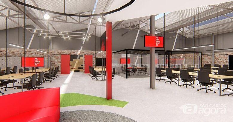 Onovolab abriga a estrutura do Santander Tecnologia e Inovação - Crédito: Divulgação/Onovolab