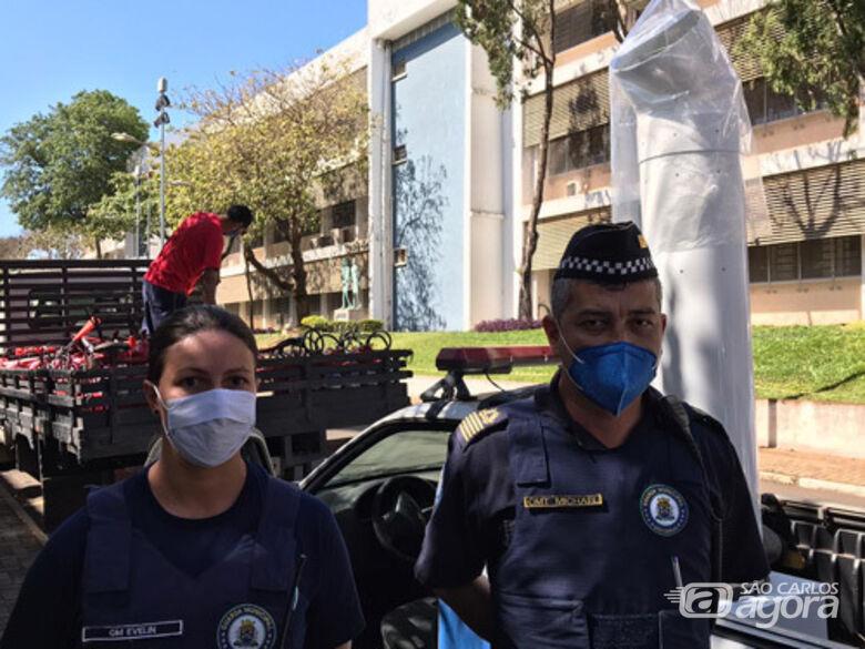 IFSC/USP São Carlos cede descontaminador de ar para Guarda Municipal de São Carlos - Crédito: Divulgação