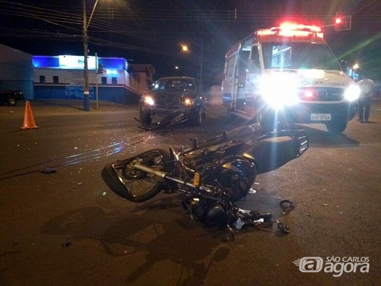 No primeiro dia de trabalho, entregador de pizza morre em acidente em São Carlos - Crédito: Maycon Ernesto/Rádio Sanca