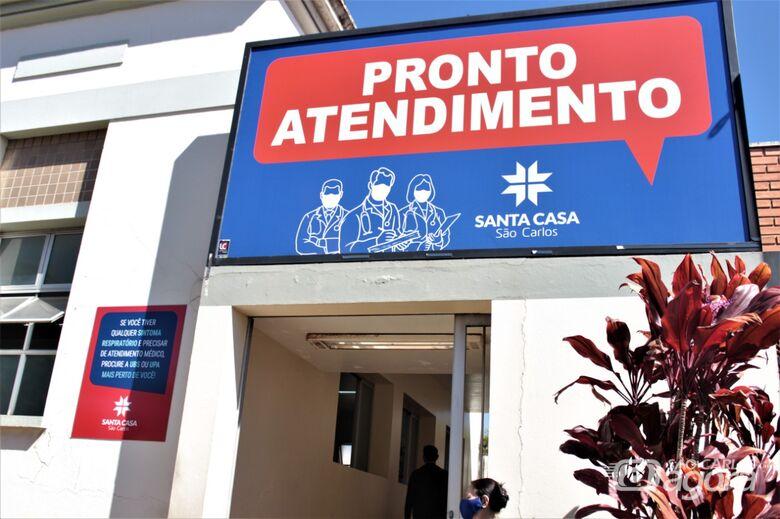 Fachada do novo Pronto Atendimento da Santa Casa aberto nesta segunda-feira – Foto: Assessoria Santa Casa - Crédito: Divulgação