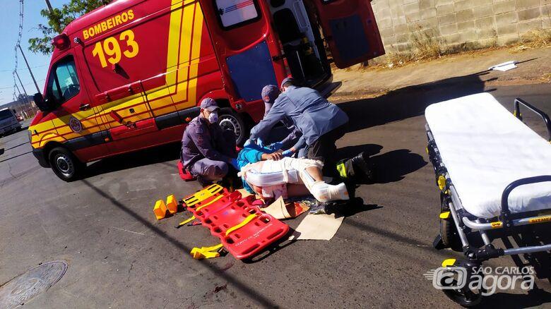Motoboy sofre fraturas após se envolver em colisão no Santa Maria - Crédito: Maycon Maximino