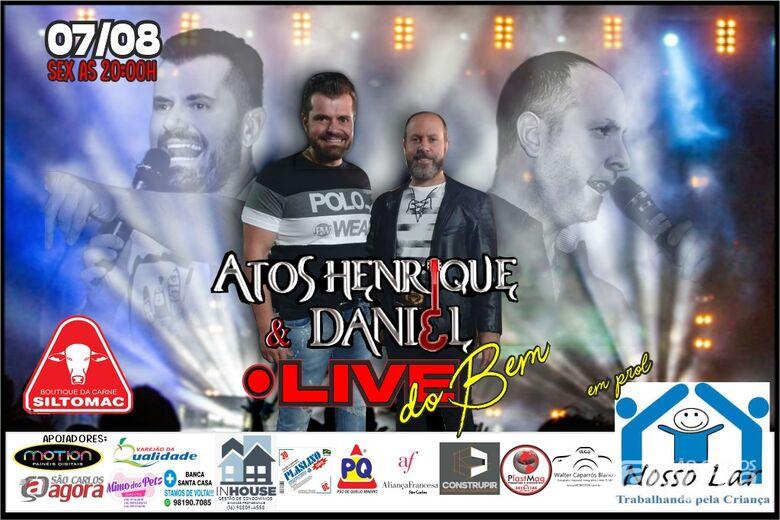 Dupla sertaneja anima live em prol do Nosso Lar - Crédito: Divulgação