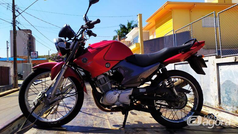 Moto furtada é localizada pela PM na 13 de Maio - Crédito: Maycon Maximino