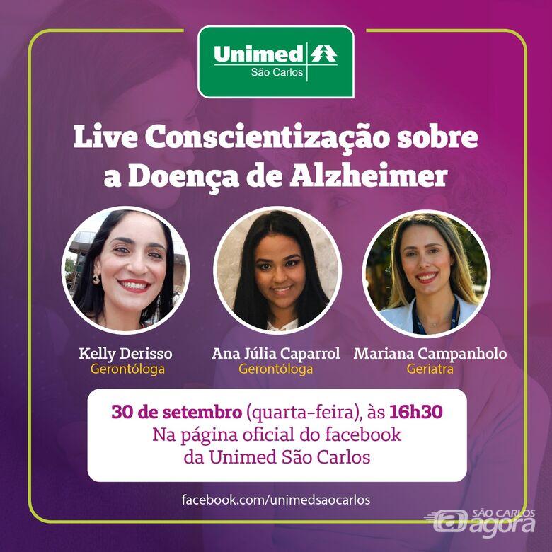 Unimed São Carlos realiza live de Conscientização sobre a Doença de Alzheimer - Crédito: Divulgação