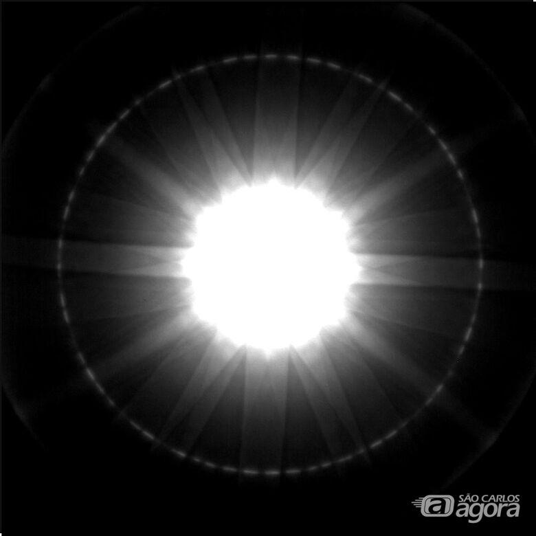 Imagem resultante da análise por difração de elétrons - Crédito: Flávia Estrada