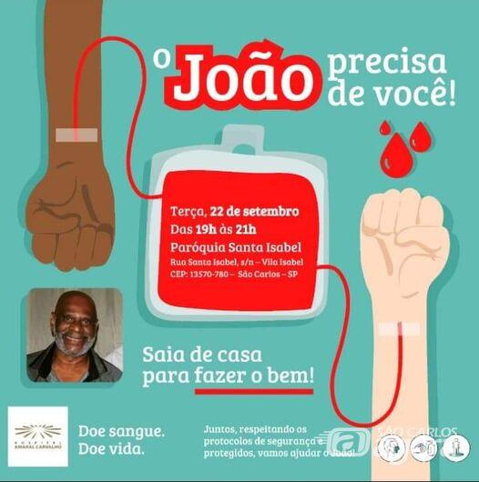Campanha busca doadores de sangue para são-carlense que está internado em hospital de Jaú -