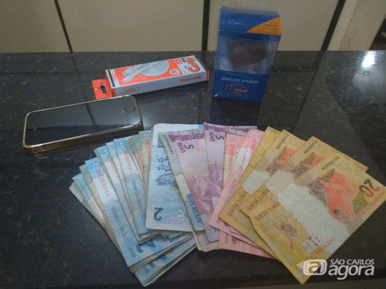 Força Tática prende acusado de assaltar loja de celulares no Centro - Crédito: Luciano Lopes
