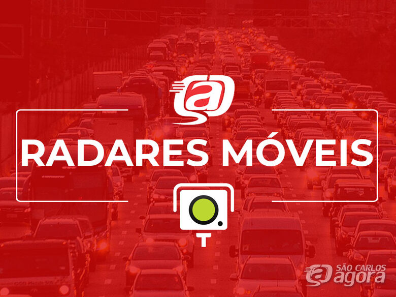 Confira a localização dos radares móveis nesta quarta-feira (23) -