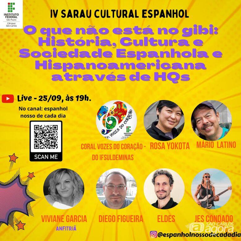 IFSP São Carlos realiza o IV Sarau Cultural Espanhol - Crédito: Divulgação