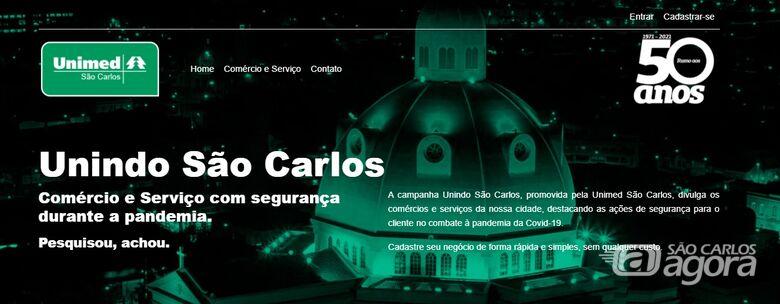 Unimed São Carlos lança site de apoio ao comércio do município - Crédito: Divulgação
