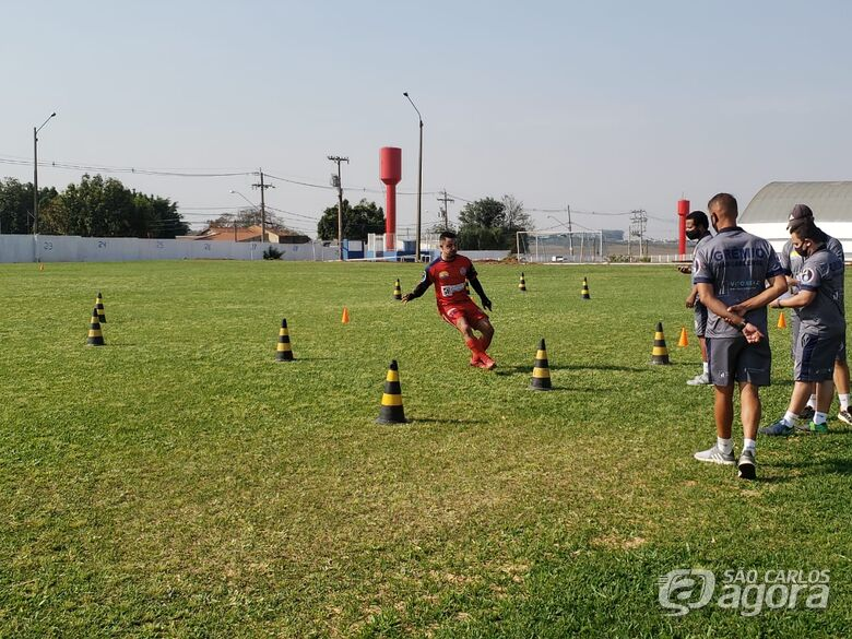 Jogadores realizam testes físicos: todo o grupo testou negativo para a Covid-19 - Crédito: Marcos Escrivani