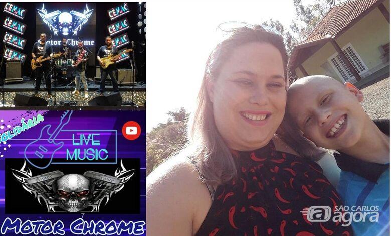 Banda MotorChrome promove live para ajudar garoto com câncer - Crédito: Divulgação