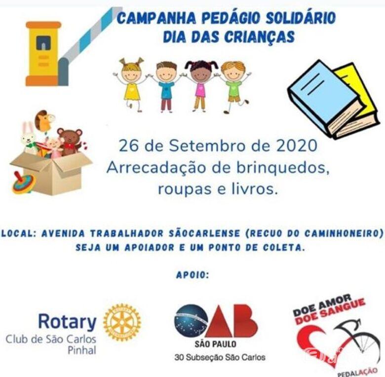 Pedágio Solidário irá arrecadar brinquedos, roupas e livros para crianças carentes -