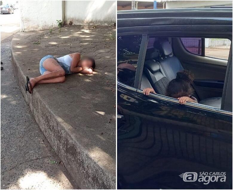 Mãe dorme na calçada e deixa menina de dois anos seminua e desprotegida na Vila Prado - Crédito: Colaborador/SCA