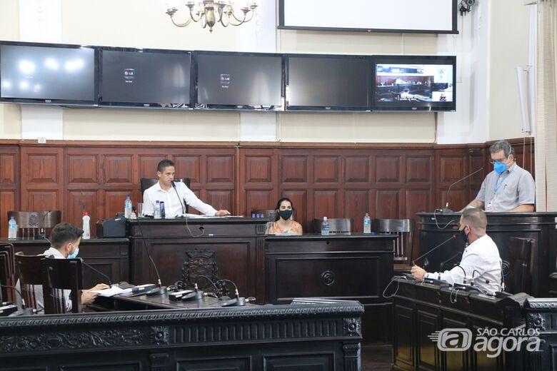Plenário da Câmara durante audiência pública que esclareceu gastos do município no enfrentamento à Covid-19 - Crédito: Divulgação