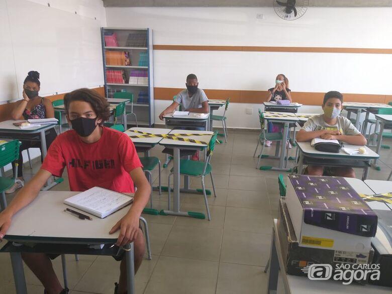 Mais de 900 escolas da rede estadual de SP retomam atividades presenciais - Crédito: Arquivo/SCA