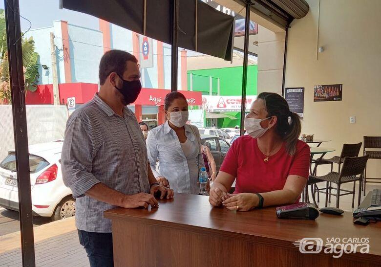 Júlio Cesar debate geração de emprego e renda com comerciantes - Crédito: Divulgação