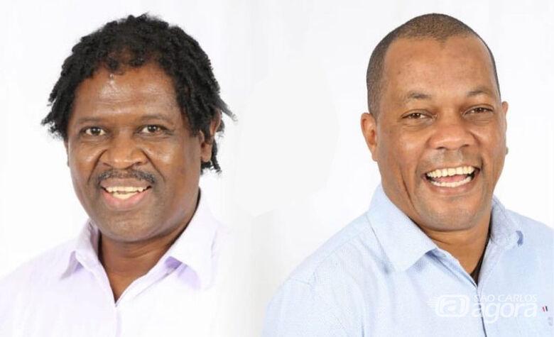 Mestre Taroba e o candidato a vice, Caio Mania - Crédito: Divulgação