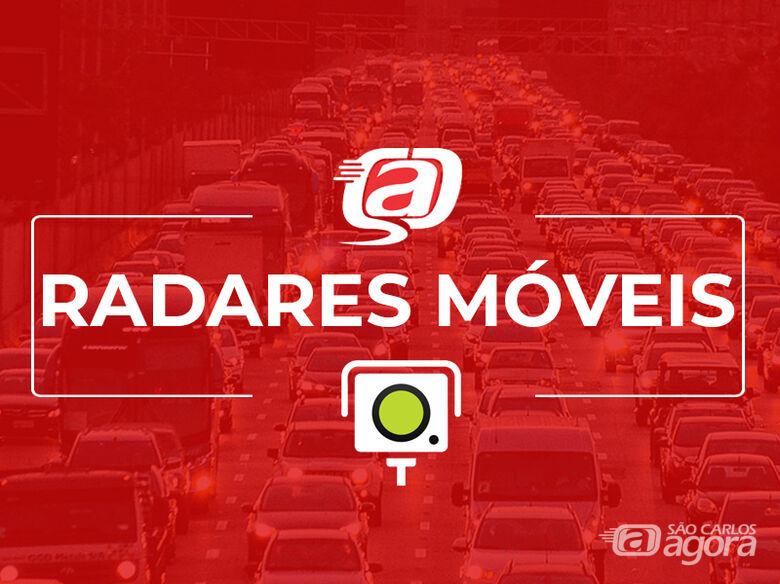 Localização dos radares nesta terça-feira (20) -