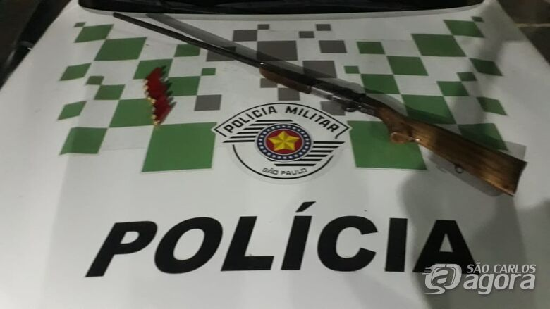 Polícia Ambiental apreende espingarda na região do Rio Jacaré Guaçu -