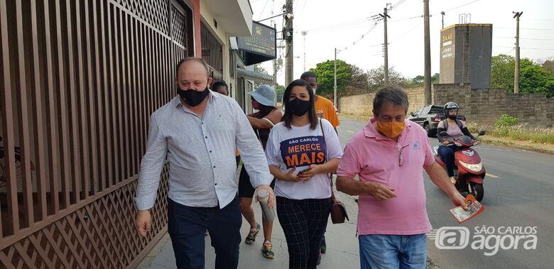 Deonir concede entrevistas e faz caminhada pelo Jardim Paulistano - Crédito: Divulgação/assessoria