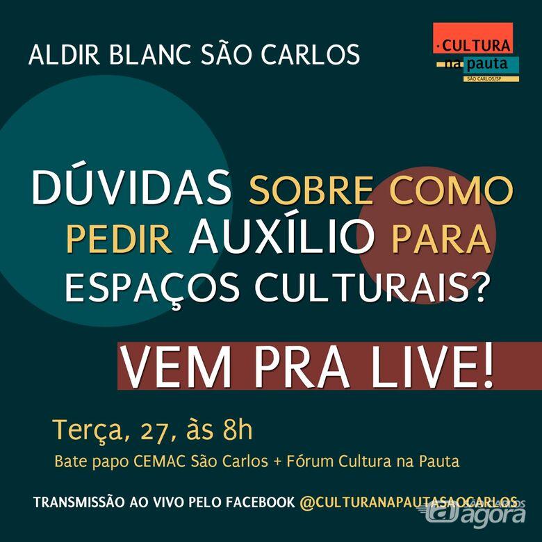 """Fórum Cultura na Pauta e Cemac realizam """"live"""" tira dúvidas nesta terça-feira - Crédito: Divulgação"""