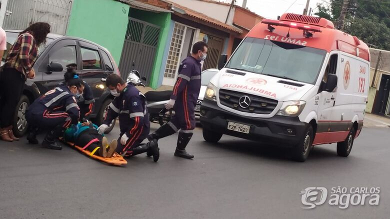 Moto atropela idosa na Avenida Morumbi - Crédito: Maycon Maximino