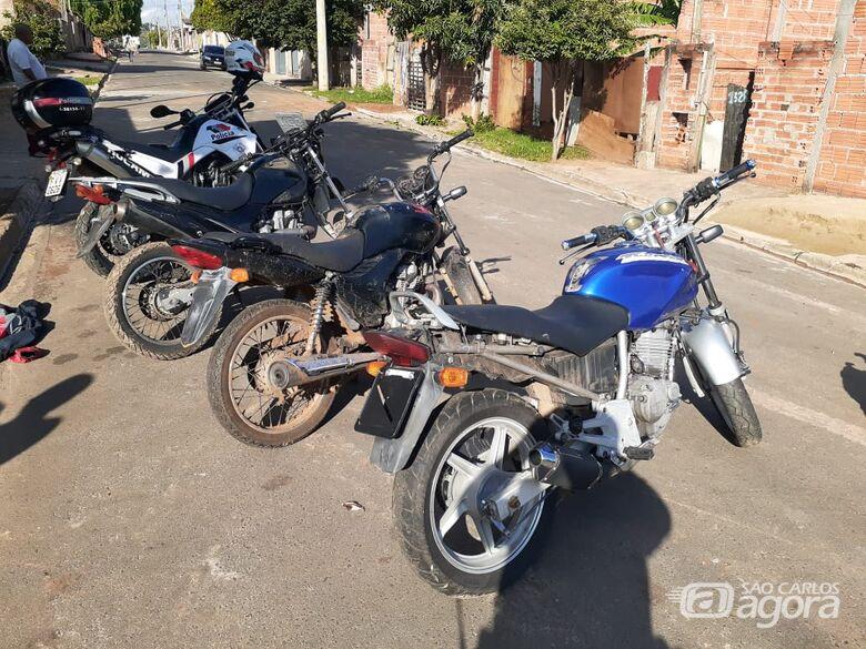 Motocicletas que foram recuperadas pela ROCAM. - Crédito: Divulgação