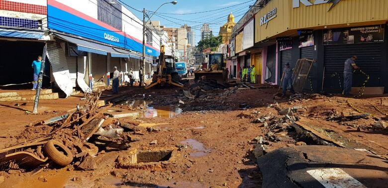 Região central foi a mais afetada - Crédito: Divulgação