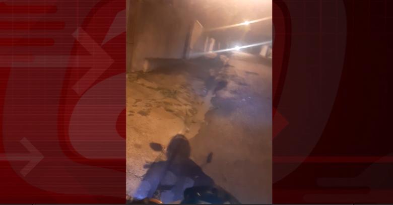 Motoboy gravou um vídeo para alertar os colegas - Crédito: Reprodução