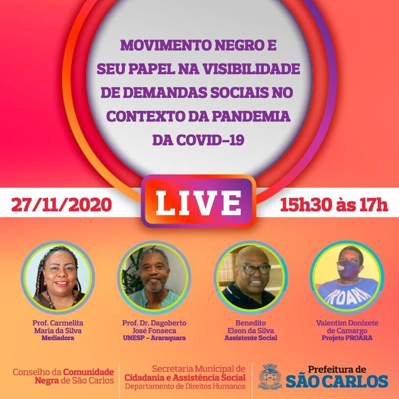 Movimento Negro e seu Papel na Visibilidade de Demandas Sociais no Contexto da Pandemia é tema de live - Crédito: Divulgação