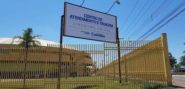 Centro de Atendimento de síndrome gripal no ginásio Milton Olaio filho - Crédito: Divulgação
