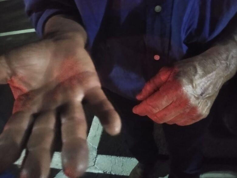 Idoso é agredido com pedaço de pau no Bela Vista - Crédito: Luciano Lopes