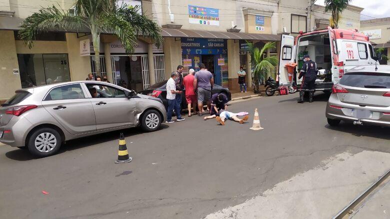 Motoboy fica ferido após colisão no Santa Felícia - Crédito: Maycon Maximino