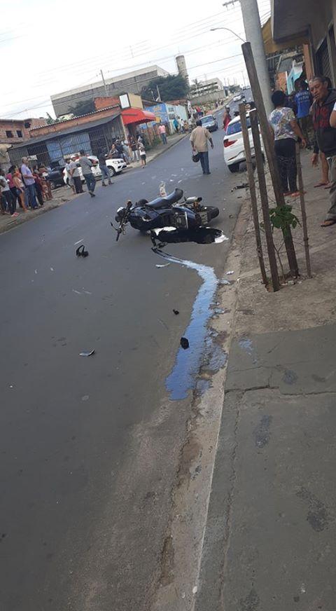 Motociclista fica gravemente ferido em acidente no Antenor Garcia