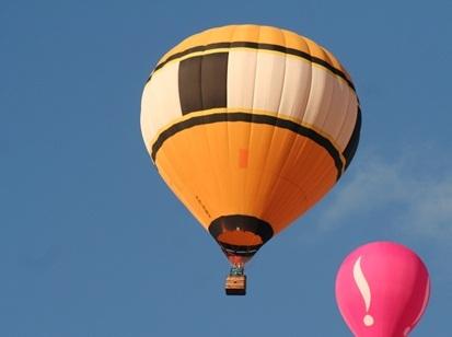 Balão durante competição na tarde de ontem (18) - (Foto: Tiago da Mata / SCA)