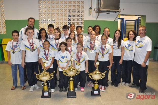 Meninas de São Carlos conquistaram todas as 16 medalhas em disputa. (Foto: Divulgação)