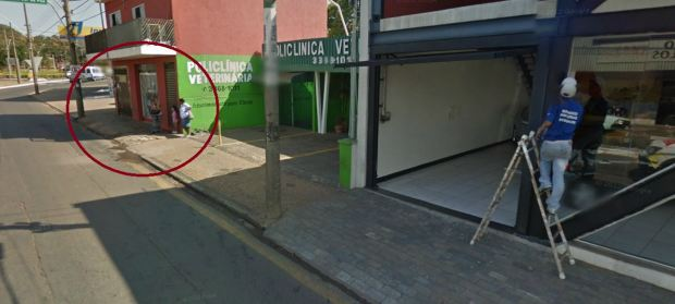 Avenida São Carlos, local informado pelo leitor. (Imagem: Google Maps)