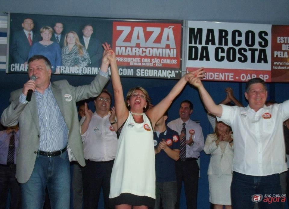 Zazá Marcomini é eleita presidente da OAB são Carlos.