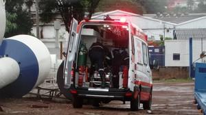 Stive, um dos suspeitos de participar de latrocínio, foi baleado em tentativa de assalto a posto de combustíveis. (foto Marco Lucio)