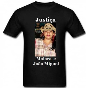 Parentes confeccionaram camisetas em homenagem a jovem. (foto Divulgação)